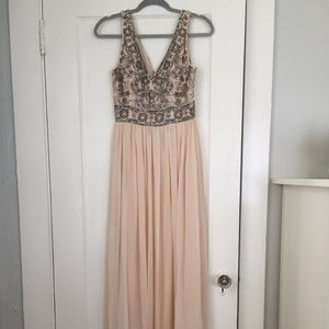 BHLDN Blush Sequined Bridesmaid Dress Size 6